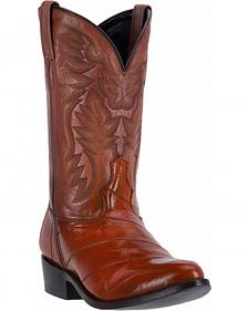 Laredo Marshall Eel Cowboy Boots - Round Toe