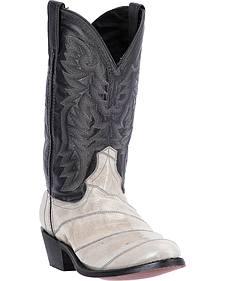 Laredo Men's Marshall Grey Eel Cowboy Boots - Round Toe
