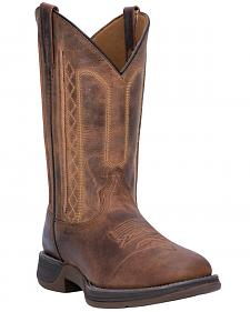 Laredo Tan Bennett Cowboy Boots - Square Toe