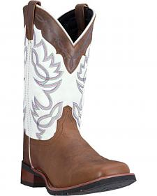 Laredo Taupe Wichita Cowboy Boots - Square Toe