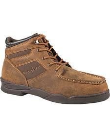 Roper Men's Moc Toe Horseshoe Boots