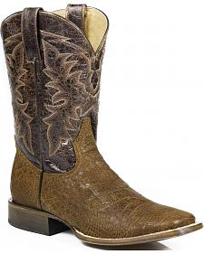 Roper Alligator Print Cowboy Boots - Square Toe