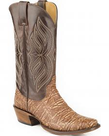 Roper Elephant Print Cowboy Boots - Square Toe