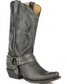 Roper Alligator Scaler Harness Cowboy Boots - Snip Toe