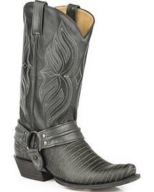 Roper Alligator Scaler Harness Cowboy Boots - Snip Toe