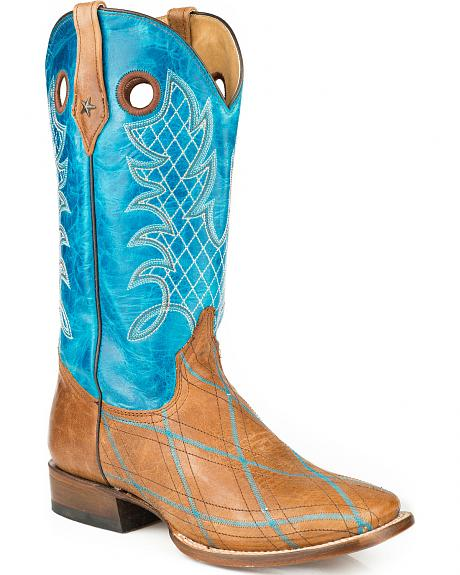 Roper Embroidered Basic Cowboy Boots - Square Toe