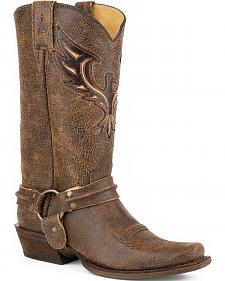 Roper Eagle Bandit Harness Western Boots - Square Toe
