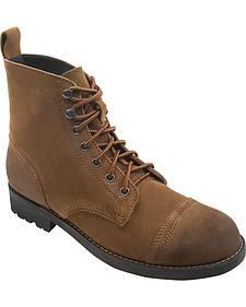 Eastland Men's Nutmeg Suede Jayce Cap Toe Boots