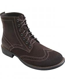 Eastland Men's Brown Suede Bennett Wing Tip Boots