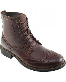 Eastland Men's Dark Walnut Bennett Wing Tip Boots