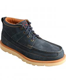 Twisted X Men's Softy Blue Casual Lace-Up Boots - Moc Toe