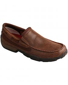 Twisted X Men's Brown Slip-On Driving Mocs