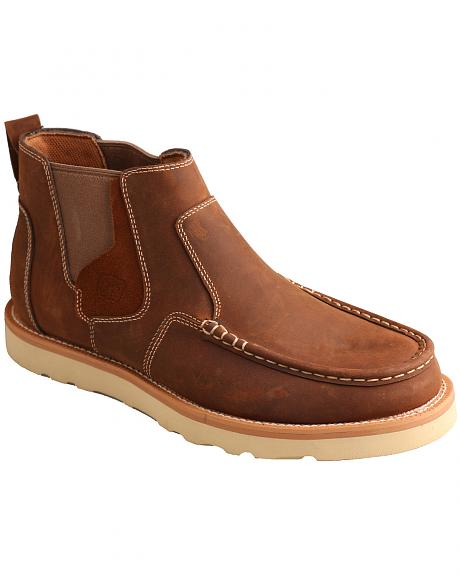 Twisted X Men's Brown Casual Pull-On Shoes - Moc Toe