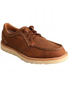 Twisted X Men's Oiled Saddle Casual Lace-Up Shoes - Moc Toe