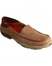 Twisted X Men's Bomber Brown Slip-On Driving Mocs
