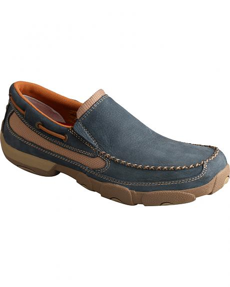 Twisted X Men's Soft Blue Driving Mocs