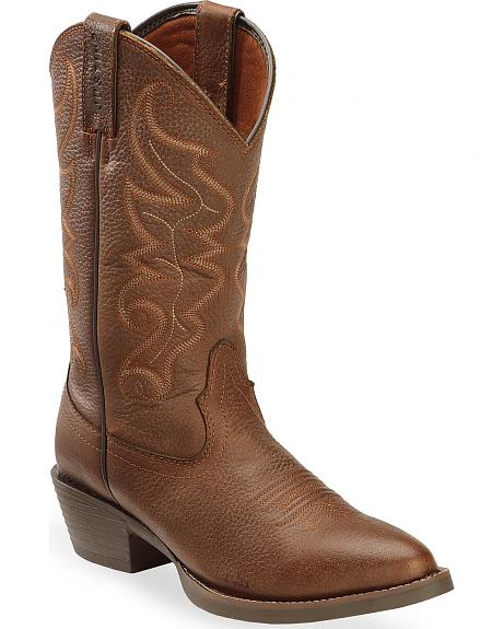 Justin Men's All Star Chocolate Western Boots - Round Toe
