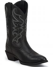 Justin Men's All Star Black Western Boots - Round Toe