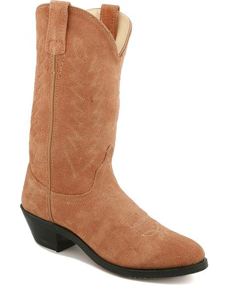 Old West Roughout Suede Cowgirl Boots