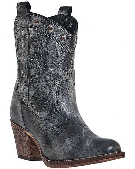 Dingo Roni Studded Cowgirl Boots - Round Toe