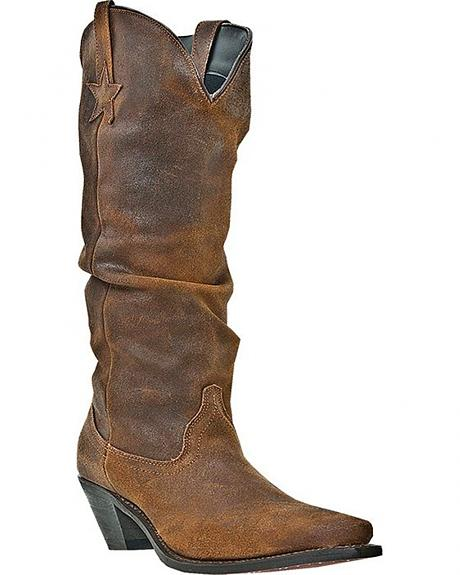 Dingo Muse Slouch Cowgirl Boots - Snip Toe