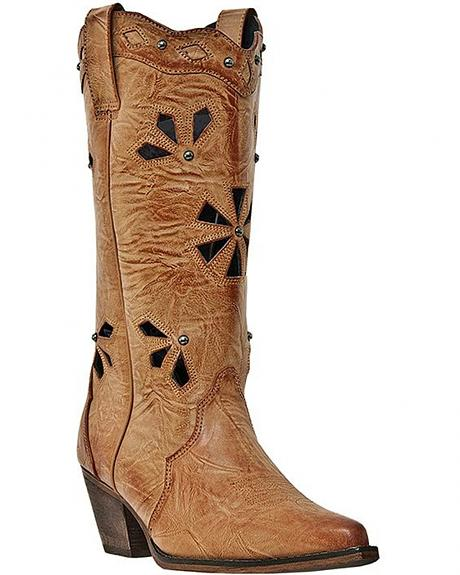 Dingo Wendy Cutout Cowgirl Boots - Snip Toe