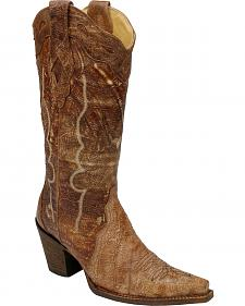 Corral Triad Distressed Cowgirl Boots - Snip Toe