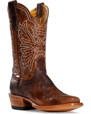 Cinch Classic Chocolate Mad Dog Wingtip Cowgirl Boots - Square Toe
