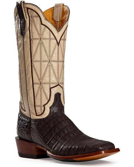 Cinch Caiman Stained Glass Embroidered Cowgirl Boots - Square Toe
