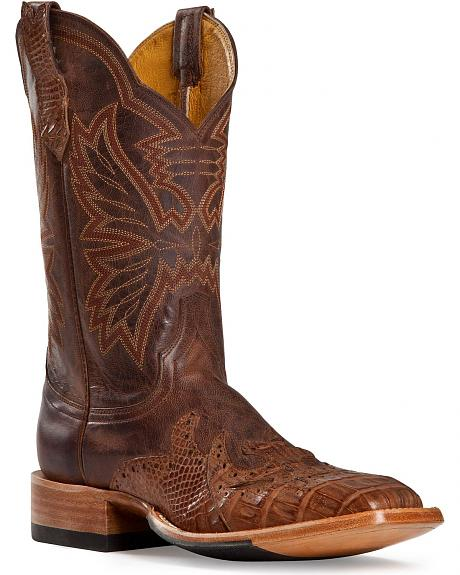 Cinch Classic Caiman Wingtip Overlay Cowgirl Boots - Square Toe