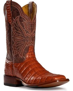Cinch Classic Caiman Belly Cowgirl Boots - Square Toe