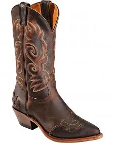 Boulet Fancy Cutout Cowgirl Boots - Pointed Toe