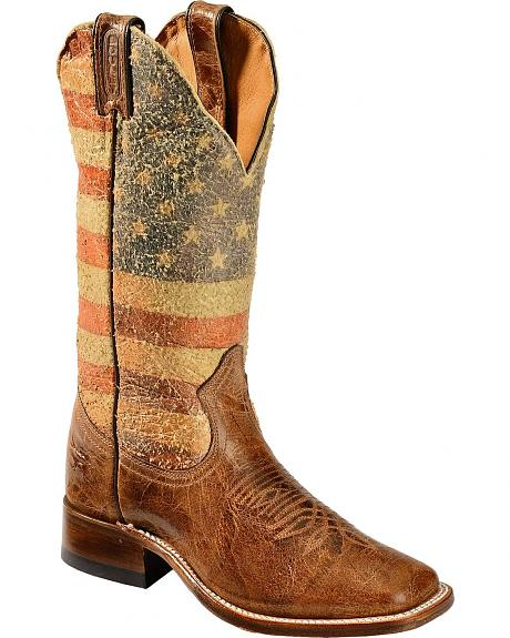 Boulet Bandiera USA Cowgirl Boots - Square Toe