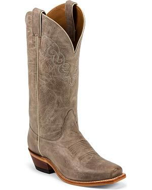 Nocona Distressed Cowgirl Boots - Square Toe