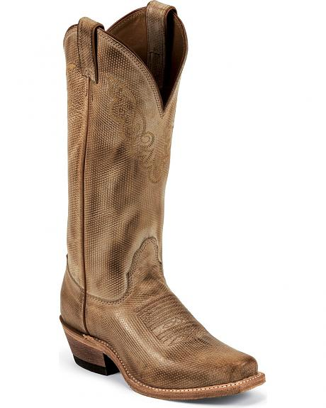 Nocona Punctured Holes Cowgirl Boots - Square Toe