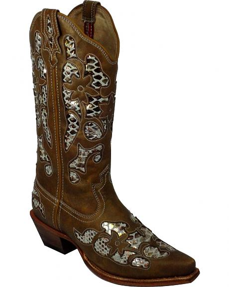 Twisted X Steppin' Out Fancy Metallic Inlay Cowgirl Boots - Snip Toe