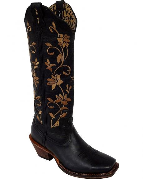 Twisted X Steppin' Out Floral Embroidered Cowgirl Boots - Square Toe
