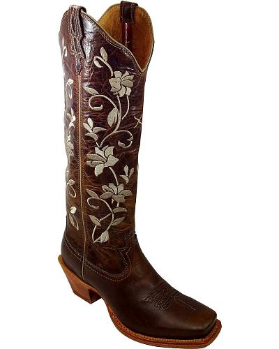 Twisted X Steppin Out Floral Embroidered Cowgirl Boots Square Toe Western & Country WSOT005
