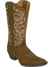 Twisted X Western Scroll Embroidered Cowgirl Boots - Snip Toe