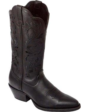 Twisted X Western Black Embroidered Cowgirl Boots - Round Toe