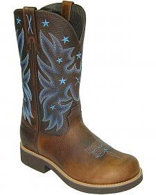 Twisted X Barn Burner Pull-On Work Boots - Round Toe