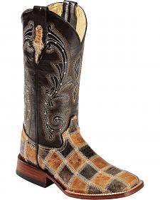Ferrini Patchwork Cowgirl Boots - Square Toe