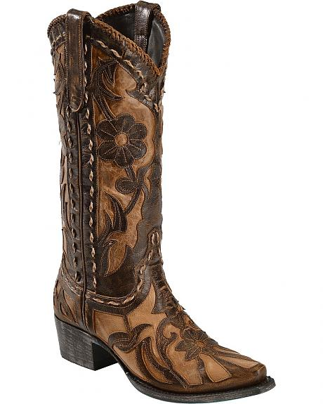 Lane Boots Poison Inlay Cowgirl Boots - Snip Toe