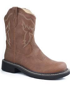 Roper Chunk Riderlite Cowgirl Boots - Round Toe