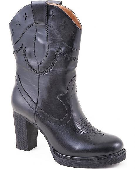 Roper Rockstar High Heel Cowgirl Boots - Round Toe