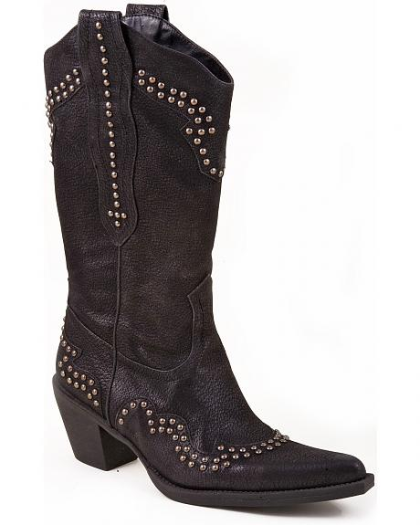Roper Studded Cowgirl Boots - Pointed Toe