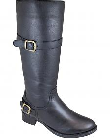 Smoky Mountain Donna Black Tall Riding Boots - Round Toe