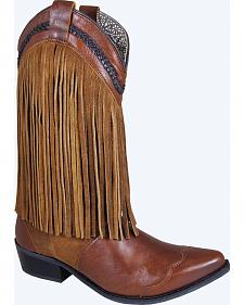 Smoky Mountain Rosie Fringe Cowgirl Boots - Snip Toe