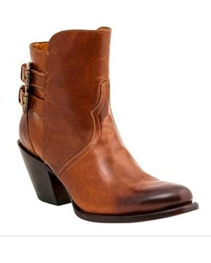 Lucchese Womens Catalina Western Booties - Round Toe