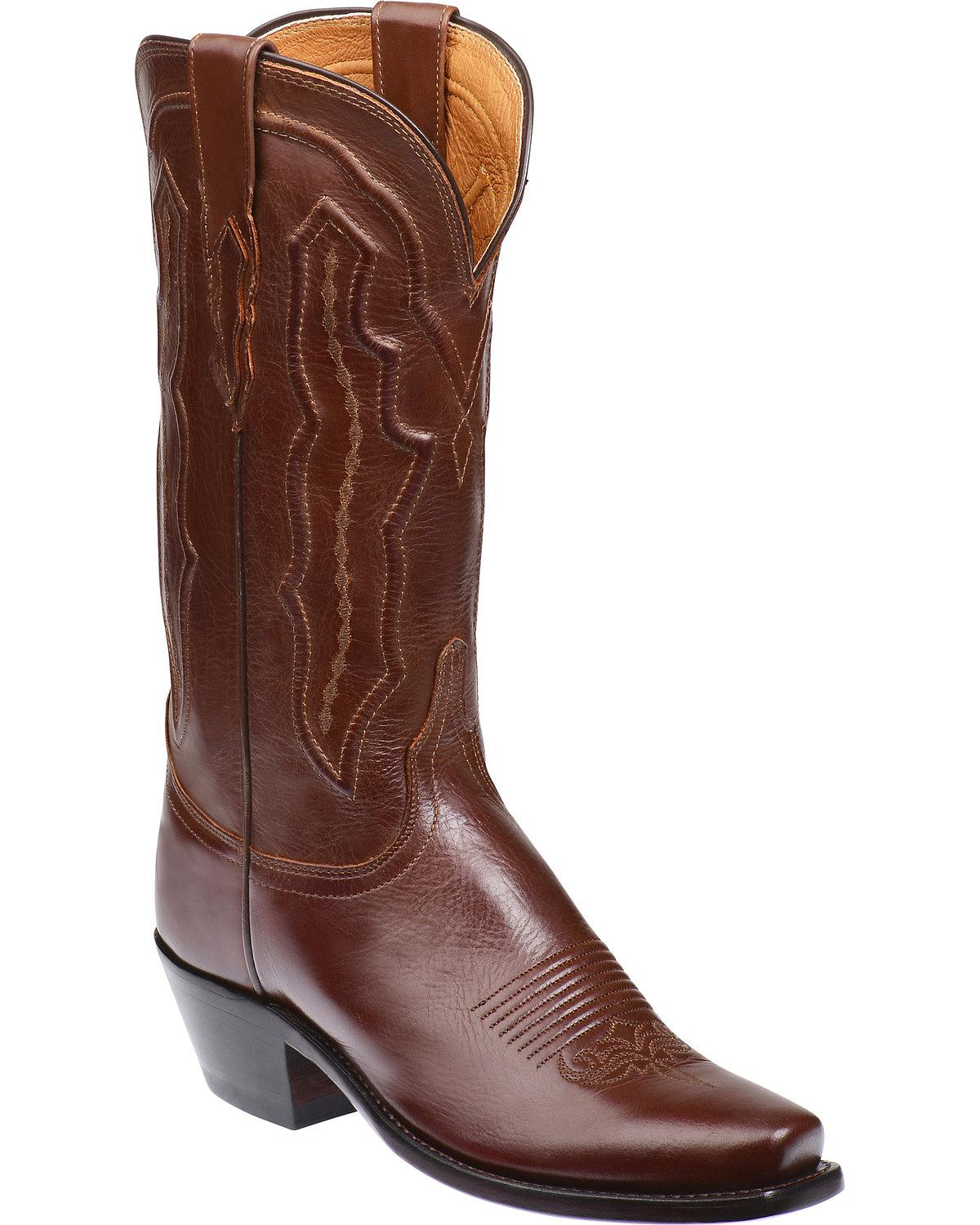 lucchese s grace ranch western boot square toe
